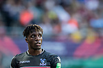 Crystal Palace midfielder Wilfried Zaha looks on during the Premier League Asia Trophy match between West Bromwich Albion and Crystal Palace at Hong Kong Stadium on 22 July 2017, in Hong Kong, China. Photo by Weixiang Lim / Power Sport Images