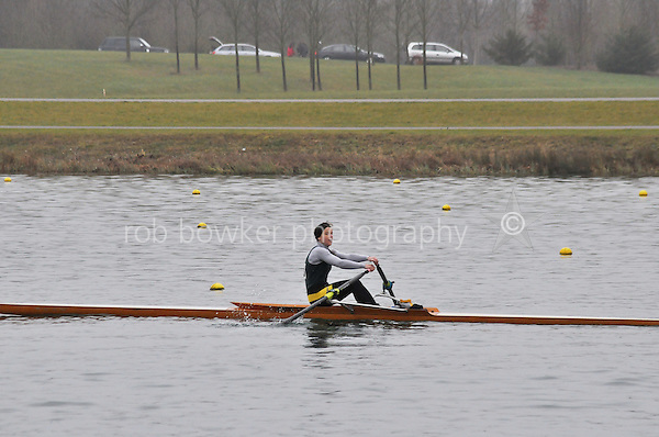 133 Abingdon RC W.MasB.1x..Marlow Regatta Committee Thames Valley Trial Head. 1900m at Dorney Lake/Eton College Rowing Centre, Dorney, Buckinghamshire. Sunday 29 January 2012. Run over three divisions.