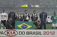 CURITIBA, PR, 11 DE JULHO DE 2012 – CORITIBA X PALMEIRAS – Jogadores do Coritiba e do Palmeiras durante partida pela final da Copa do Brasil 2012. O jogo aconteceu na noite de quarta-feira (11), no Estádio Couto Pereira, em Curitiba. (FOTO: ROBERTO DZIURA JR./ BRAZIL PHOTO PRESS)