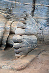 Feet of reclining Buddha, Gal Viharaya, UNESCO World Heritage Site, the ancient city of Polonnaruwa, Sri Lanka