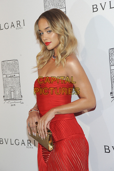 NEW YORK, NY - OCTOBER 19: Jasmine Sanders attends the re-opening of the  Bulgari flagship store on Fifth Avenue in New York City on October 20, 2017. <br /> CAP/MPI/JP<br /> &copy;JP/MPI/Capital Pictures