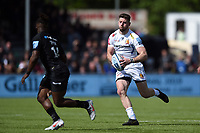 Alex Cuthbert of Exeter Chiefs takes on the Saracens defence. Gallagher Premiership match, between Saracens and Exeter Chiefs on May 4, 2019 at Allianz Park in London, England. Photo by: Patrick Khachfe / JMP