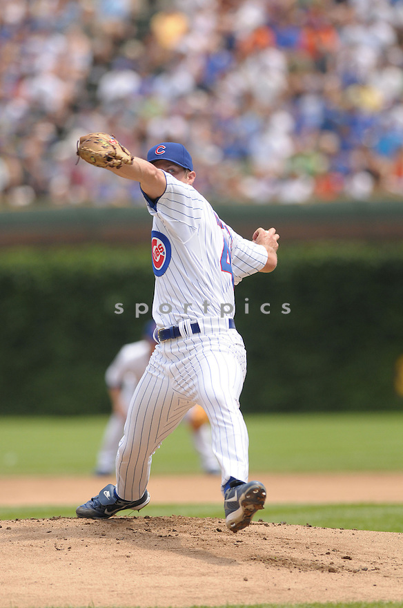 RICH HARDEN, of the Chicago Cubs , in action during the Cubs  game against the San Francisco Giants  on July 12, 2008 in Chicago . The Cubs won  game 8-7.