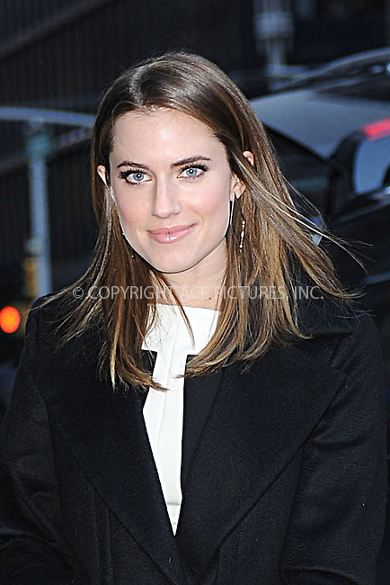 WWW.ACEPIXS.COM . . . . . <br /> January 22, 2014...New York City<br /> <br /> Allison Williams arrives to tape an appearance on the Late Show with David Letterman on January 22, 2014 in New York City.<br /> <br /> Please byline: Kristin Callahan...ACEPIXS.COM<br /> Tel: (212) 243 8787 or (646) 769 0430<br /> e-mail: info@acepixs.com<br /> web: http://www.acepixs.com