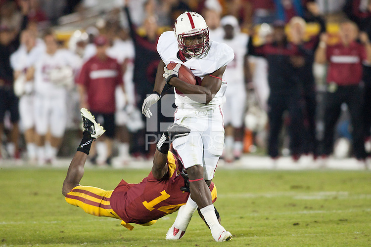 LOS ANGELES, CA-OCTOBER 29,2011- The Stanford Cardinals defeated the USC Trojans 56-48. Ty Montgomery (88) during play against USC at the L.A. Coliseum in Los Angeles, CA.