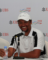 Michael Campbell (NZL) in the interview room after Round 2 of the UBS Hong Kong Open 2012, Hong Kong Golf Club, Fanling, Hong Kong. 16/11/12...(Photo Jenny Matthews/www.golffile.ie)