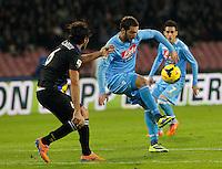 Gonzalo Higuain durante l'incontro di calcio di Serie A  Napoli Parmi allo  Stadio San Paolo  di Napoli , 23 Novembre 2013<br /> Foto Ciro De Luca