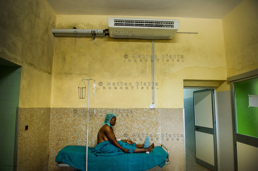 FATEBENEFRATELLI SAINT JEAN DE DIEU HOSPITAL IN TANGUIETA IN THE PICTURE A WOMAN WAITING FOR A SURGERY PHOTO BY MATTEO BIATTA