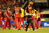 8th January 2018, The WACA, Perth, Australia; Australian Big Bash Cricket, Perth Scorchers versus Melbourne Renegades; David Willey of the Perth Scorchers walks past the celebrating Renegades players after he was dismissed for 55