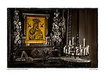 Golden icon, San Carlos Borromeo del Carmelo, by Larry Angier.