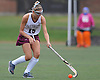 Sarah Kaval #15 of Garden City controls the ball at midfield during a Nassau County Conference I varsity field hockey match against Baldwin at Garden City High School on Friday, Sept. 30, 2016. Garden City won by a score of 7-0.
