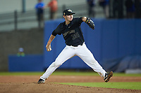 Wake Forest Demon Deacons relief pitcher Morgan McSweeney (35) in action against the Florida Gators in Game Three of the Gainesville Super Regional of the 2017 College World Series at Alfred McKethan Stadium at Perry Field on June 12, 2017 in Gainesville, Florida. The Gators defeated the Demon Deacons 3-0 to advance to the College World Series in Omaha, Nebraska. (Brian Westerholt/Four Seam Images)