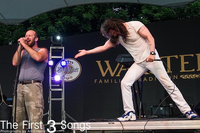 Andrew W.K. performs at the 2014 Bunbury Music Festival in Cincinnati, Ohio