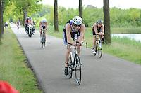 TRIATHLON: HEERENVEEN: 23-05-2015, CLAFIS Triathlon Heerenveen, Olympische klasse, Pascal Dankelman (#29), ©foto Martin de Jong