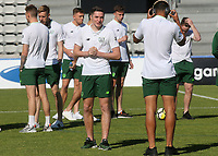 Republic of Ireland players have a quick look at the pitch after their arrival during Republic Of Ireland Under-21 vs Mexico Under-21, Tournoi Maurice Revello Football at Stade Parsemain on 6th June 2019