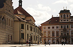 Streets and a plaza in the Prague Castle in Prague, Czech Republic.