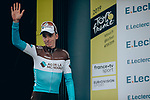 Romain Bardet (FRA) AG2R La Mondiale retains the mountains Polka Dot Jersey at the end of Stage 19 of the 2019 Tour de France originally running 126.5km from Saint-Jean-de-Maurienne to Tignes but cut short to 88.5 km, France. 26th July 2019.<br />