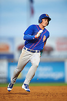 Midland RockHounds third baseman Matt Chapman (7) running the bases during a game against the San Antonio Missions on April 21, 2016 at Nelson W. Wolff Municipal Stadium in San Antonio, Texas.  Midland defeated San Antonio 9-2.  (Mike Janes/Four Seam Images)