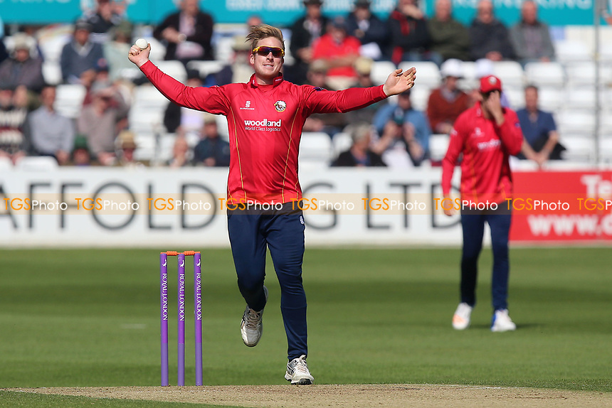 Simon Harmer in bowling action for Essex during Essex Eagles vs Middlesex, Royal London One-Day Cup Cricket at The Cloudfm County Ground on 12th May 2017