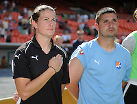 Sky Blue FC coaching staff members  Kelly Lindsey and Joe Dorini.  Washington Freedom defeated Skyblue FC 2-1 at RFK Stadium, Saturday May 23, 2009.