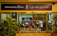Dubai.  Branch of National Bank of Dubai in Mall of the Emirates..