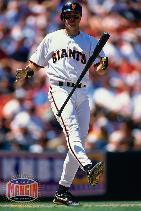 SAN FRANCISCO, CA - J.T. Snow of the San Francisco Giants bats during a game in 1997 at Candlestick Park in San Francisco, California. (Photo by Brad Mangin)