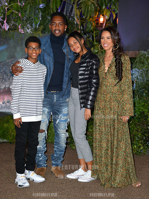 Bill Bellamy, Kristen Baker Bellamy, Baron Bellamy &amp; Bailey Ivory-Rose Bellamy at the Los Angeles premiere of &quot;Jumanji: Welcome To the Jungle&quot; at the TCL Chinese Theatre, Hollywood, USA 11 Dec. 2017<br /> Picture: Paul Smith/Featureflash/SilverHub 0208 004 5359 sales@silverhubmedia.com