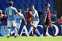 Sergej Milinkovic-Savic of SS Lazio celebrates after scoring the goal of 1-0 for his side <br /> Roma 29-9-2019 Stadio Olimpico <br /> Football Serie A 2019/2020 <br /> SS Lazio - Genoa CFC <br /> Foto Andrea Staccioli / Insidefoto