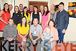 Aine Cronin, Woodlawn, Killarney and John Kirwan, Wexford who were married in Killarney on Saturday pictured with Bridie Cronin, Angela Kirwan, Eanna Kirwan, Maire Kirwan, Robbie Kirwan, Linda Cronin, Padraig Cronin, Deirdre Kirwan, Laurance Kirwan, Aoife Cronin, Jerry Cronin, Eilis Cronin, Diarmuid Cronin and Colin Branigan at their after wedding party in Lord Kenmares restaurant, Killarney on Sunday evening. ..................................