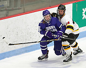 Tyler Vankleef (Curry - 15), Curtis Heinz (WIT - 14) - The Wentworth Institute of Technology Leopards defeated the visiting Curry College Colonels 1-0 on Saturday, November 23, 2013, at Walter Brown Arena in Boston, Massachusetts.