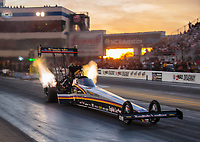 Oct 12, 2018; Concord, NC, USA; NHRA top fuel driver Mike Salinas during qualifying for the Carolina Nationals at zMax Dragway. Mandatory Credit: Mark J. Rebilas-USA TODAY Sports