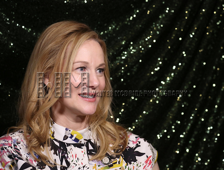 Laura Linney  attends the 2017 Tony Awards Meet The Nominees Press Junket at the Sofitel Hotel on May 3, 2017 in New York City.