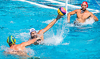 6 SIMON Thibaut FRA <br /> FRA (white cap) -  AUS (blue cap)<br /> Preliminary Round Water Polo Women<br /> Day06  19/07/2017 <br /> XVII FINA World Championships Aquatics<br /> Alfred Hajos Complex Margaret Island  <br /> Budapest Hungary <br /> Photo @ Deepbluemedia/Insidefoto