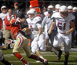 (Everett Ma 091914) Tewksbury 3, James Sullivan, one his way to the end zone,  during the first quarter of the game, Friday, Sept. 19, 2014, at Everett Stadium. (Jim Michaud Photo) For Saturday