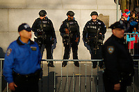 Members of the New York Police Department's Emergency Service Unit stand guard during the 89th Macy's Thanksgiving Annual Day Parade in the Manhattan borough of New York.  11/26/2015. Eduardo MunozAlvarez/VIEWpress