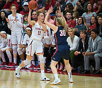 STANFORD, CA - March 17, 2018: Alanna Smith at Maples Pavilion. The Stanford Cardinal defeated the Gonzaga Bulldogs 82-68 to advance to the second round of the NCAA tournament.