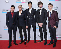 The Wanted at The 2012 American Music  Awards held at Nokia Theatre L.A. Live in Los Angeles, California on November 18,2012                                                                   Copyright 2012  Debbie VanStory / iPhotoLive.com