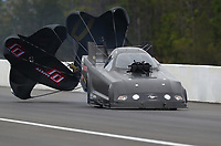 Mar 17, 2019; Gainesville, FL, USA; NHRA funny car driver Terry Haddock during the Gatornationals at Gainesville Raceway. Mandatory Credit: Mark J. Rebilas-USA TODAY Sports