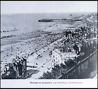 BNPS.co.uk (01202 558833)<br /> Pic: PhilYeomans/BNPS<br /> <br /> Back in the firing line - Hastings was mapped and photographed.<br /> <br /> Chilling - Hitlers 'How to' guide to the invasion of Britain.<br /> <br /> A remarkably detailed invasion plan pack of Britain has been unearthed to reveal how our genteel seaside resorts would have been in the front line had Hitler got his way in World War Two.<br /> <br /> The Operation Sea Lion documents, which were issued to German military headquarters' on August 1, 1940, contain numerous maps and photos of every town on the south coast.<br /> <br /> They provide a chilling reminder of how well prepared a German invading force would have been had the Luftwaffe not been rebuffed by The Few in the Battle of Britain.<br /> <br /> There is a large selection of black and white photos of seaside resorts and notable landmarks stretching all the way from Land's End in Cornwall to Broadstairs in Kent.<br /> <br /> The pack also features a map of Hastings, raising the possibility that a second battle could have been staged there, almost 900 years after the invading William The Conqueror triumphed in 1066.