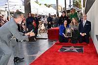 LOS ANGELES, CA. March 29, 2019: Tom Hanks, Rana Ghadban, Rita Wilson, Mitch O'Farrell, Donelle Dadigan & Julia Roberts at the Hollywood Walk of Fame Star Ceremony honoring actress Rita Wilson.<br /> Pictures: Paul Smith/Featureflash