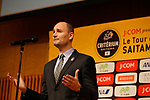 Jean-Etienne Amaury speaks at the Opening Ceremony before the 2018 Saitama Criterium, Japan. 3rd November 2018.<br /> Picture: ASO/Yuzuru Sunada | Cyclefile<br /> <br /> <br /> All photos usage must carry mandatory copyright credit (&copy; Cyclefile | ASO/Yuzuru Sunada)