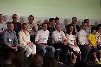 SÃO PAULO, SP, 24.07.2016 - ELEIÇÕES-SP - João Dória, Geraldo Alckmin, Lu Alckmin e Bruno Covas durante convenção municipal do partido na cidade de São Paulo na Fecomercio no centro da cidade de São Paulo neste domingo, 24. A aliança partidária do PSDB para as eleições municipais em São Paulo conta com o apoio de dez partidos. PSB, PPS, PHS, PMB e DEM. (Foto: Ciça Neder/Brazil Photo Press)