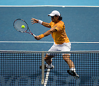Fernando Verdasco (ESP) against Andy Murray (GBR) in the Group A singles of the Barclays ATP World Tour Finals. Murray beat Verdasco .6-4 6-7 7-6..International Tennis - Barclays ATP World Tour Finals - O2 Arena - London - Day 5 - Thurs  26th Nov 2009..© Frey - AMN IMAGES, Level 1 Barry House, 20-22 Worple Road, London, SW19 4DH - +44 20 8947 0100