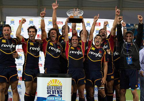 19.10.2012. Gold Coast, Australia.  Spain Sevens - Gold Coast Sevens 2012 - Skilled Park Stadium  HSBC Sevens World Series