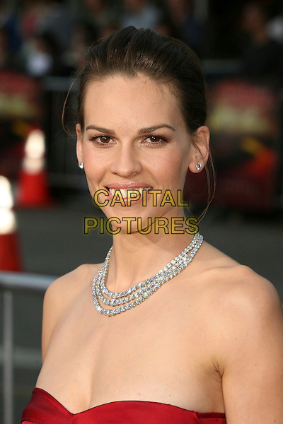 "HILARY SWANK.""The Reaping"" Los Angeles Premiere at Mann's Village Theatre, Hollywood, California, USA, 29 March 2007..portrait headshot necklace .CAP/ADM/BP.©Byron Purvis/AdMedia/Capital Pictures."
