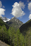 Mountains and clouds, Hahntennjoch pass, Imst district, Tyrol,Tirol, Austria.
