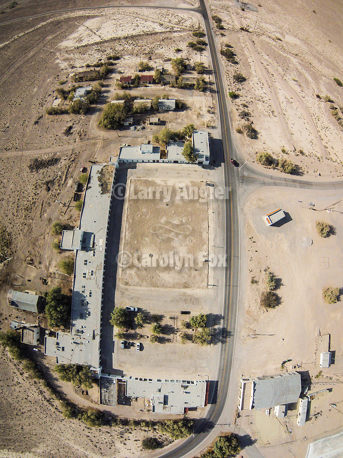 Death Valley Junction, Inyo County, California from the air.