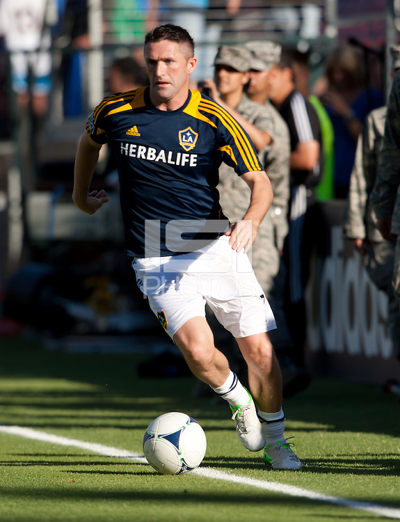 Stanford, California - Saturday June 30, 2012: Robbie Keane dribbles the ball during a game at Stanford Stadium, Stanford, Ca.San Jose Earthquakes defeated Los Angeles Galaxy,  4 to 3