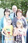 Katie Hoey, Tara Kindlon, Caroline Hoey and Marie Kindlon with Garda Michael Rogan at the Garda Station Open Day...Picture Jenny Matthews/Newsfile.ie