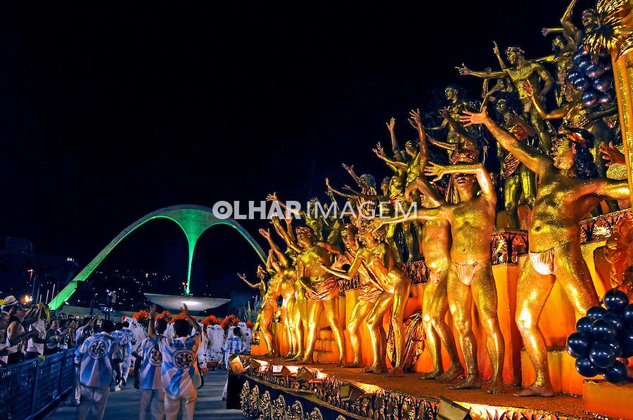 Desfile de carnaval no sambódromo. Portela. Rio de Janeiro. 2009. Foto de Rogério Reis.